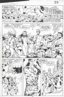 DAVIS, ALAN - New Mutants Annual #3 pg 20, New Mutants in swimsuits Comic Art