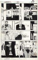 ROMITA JR, JOHN / AL WILLIAMSON - Daredevil # 254 pg 25, 1st Typhoid Mary - TM getting past guards Comic Art