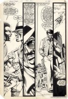 WOCH, STAN - World's Finest #310 pg 4, Sonik in streets, Superman in sky 1984 Comic Art