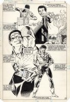 WOCH, STAN - World's Finest #310 montage splash pg 8, origin of Sonik 1984 Comic Art