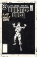 JURGENS, DAN - Booster Gold #20 cover, Booster blinded 1986 Comic Art