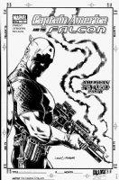JURGENS, DAN & NELSON - Captain America #13 cover and the Falcon Comic Art