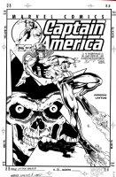 JURGENS, DAN / BOB LAYTON - Captain America #513 cover, Capt / Steve Rogers, Red Skull  2001  Comic Art