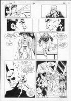 JURGENS, DAN - JLA #66 page, Superman, Batman, Guy Gardner Comic Art