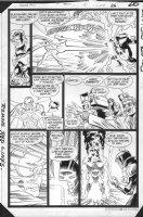 JURGENS, DAN -  Booster Gold #2 pg 26, Booster fights Comic Art
