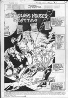 JURGENS, DAN - Booster Gold #11 splash, 1986 Comic Art