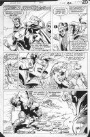 JURGENS, DAN -  Booster Gold #2 pg 20, Booster in action Comic Art