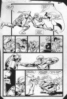 JURGENS, DAN -  Booster Gold #2 pg 29, Booster, multi-panel fight Comic Art