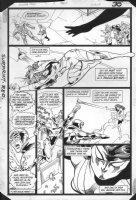 JURGENS, DAN -  Booster Gold #2 pg 30, Booster fights Comic Art