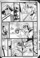 JURGENS, DAN -  Booster Gold #2 pg 31, Booster multi-panel fight Comic Art