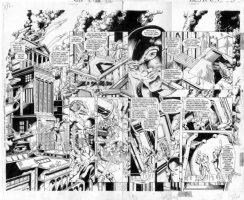JURGENS - Sun Devils #4 pgs 7 and 8 Comic Art
