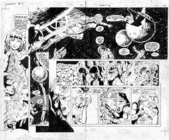 JURGENS - Sun Devils #5 pgs 13 and 14 Comic Art