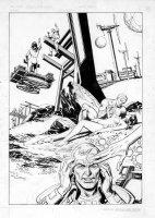 ANDRU, ROSS / GARCIA-LOPEZ - Atari Force #4 Splash leader recalls origin 1984 Comic Art