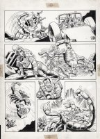 ANDRU, ROSS - Atari Force promo comic page with the team in space suits battling a giant scorpion! Comic Art