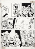 ANDRU, ROSS - Atari Force promo comic page. The whole team returns from space and costume up! Comic Art