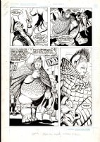 GARCIA-LOPEZ, JOSE LUIS & ROSS ANDRU - Atari Force #4 pg 15, large panels! Morphea rescues Babe, who joins the Atari Force - 1984 Comic Art