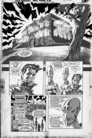 TRUOG, CHAS w/ Grant Morrison - Animal Man #23 pg 6, full Arkham Asylum,  aliens & Dr Highwater Comic Art