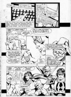 TRUOG, CHAS w/ Grant Morrison - Animal Man #25 pg 12 - Morrison's penultimate issue - A.Man, Grant's hands typing story, MerryMan, old DC heroes Comic Art