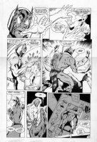 TRUOG, CHAS / GRANT MORRISON - Animal Man #4 large pg 27, B'wanna Beast turns table on animal lab owner  Comic Art