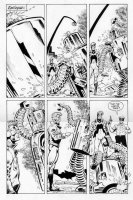 TRUOG, CHAS / GRANT MORRISON - Animal Man #7 large pg 22, AMan beats old-time robot Comic Art