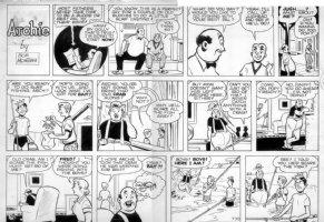 MONTANA, BOB - Archie sunday 7-30 1950, fishing Comic Art