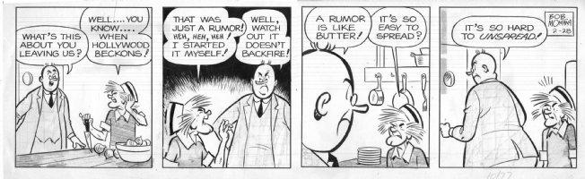 MONTANA, BOB - Archie daily 2/28, Principal & cook Beazley Comic Art