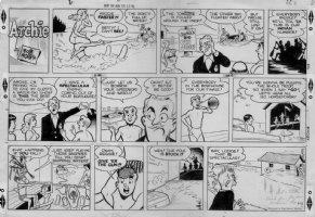 MONTANO, BOB - Archie Sunday - 9/15 1960s, water skiing Comic Art