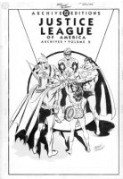 ORDWAY, JERRY - Justice League of America archives #8 cover, classic JLA team Comic Art
