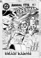 ORDWAY, JERRY - Superman Man Of Steel Annual #5 cover, 1st future Superman & Lang 1996 Comic Art