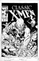 ADAMS, ART - Classic X-Men cover #22, X-Men in Savage Land, Kazar & Zabu Comic Art