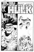 ADAMS, ART - Hulk #7 cover, large size! Red Hulk plus all-female Defenders; She-Hulk, Valkyrie & Tundra Comic Art