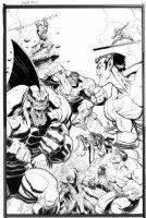 ADAMS, ART - Hulk #10 large cover, Hulk plus Defenders: Surfer, Subby, Doc Comic Art