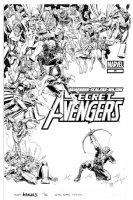 ADAMS, ART - Secret Avengers #36 cover, Hawkeye vs Marvel Villians Comic Art