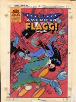 CHAYKIN, HOWARD - American Flagg #49 painter color cover art  1988 Comic Art