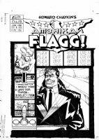 CHAYKIN, HOWARD - Amerikan Flagg #2 cover Comic Art