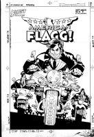 CHAYKIN, HOWARD - American Flagg #44 cover, sooo many Rueben Flagg's on motorcycles Comic Art