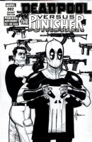CHAYKIN, HOWARD - Deadpool vs The Punisher #2 Cover, Frank is not happy to lose shirt to DP Comic Art
