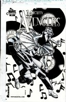 CHAYKIN, HOWARD - Mighty Avengers #27 cover, 50s Happy Days with Wasp/Henry Pym, Jocasta Comic Art