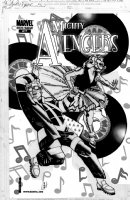 CHAYKIN, HOWARD - Mighty Avengers #27 cover, 50s Happy Days w/ Wasp(Henry Pym), Jocasta Comic Art