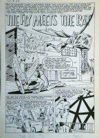 VIGODA, BILL - Simon & Kirby' The Fly #5 pg 1 splash  Comic Art