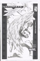 Finch, David - Ultimate X-Men cover #42 cover- Arch-Angel, published from pencils Comic Art