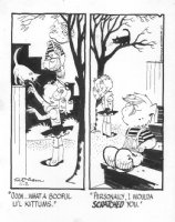 KETCHAM, HANK - Dennis the Menace daily, 11/02 1979, Dennis, Margaret, kitty cat Comic Art