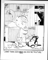 KETCHAM, HANK - Dennis daily, 4/3 1978 + Dennis' room, Dennis & teddy bear Comic Art