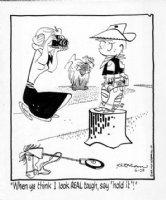 KETCHAM, HANK - Dennis daily 5/10 1979 cowboy Dennis, Ruff, Mom Comic Art
