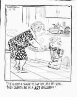 KETCHAM, HANK - Dennis daily 10/25 1978, Mrs Wilson and cookie jar Comic Art