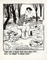 KETCHAM, HANK - Dennis the Menace daily, 3/19 1972, Dennis & dad camping without salt Comic Art