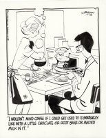 KETCHAM, HANK - Dennis the Menace daily, 7/18 1972, Dennis & Parents at coffee breakfast Comic Art