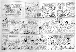 RICKARD, JACK & LAZARUS MELL - Pauline McPeril Sunday 1-15 1966 Comic Art