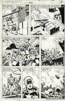 BUSCEMA, SAL / FRANK MILLER backgrounds - Captain America #236 pg 11, Cap & Daredevil, follows DD #158 Comic Art