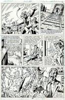 MILLER, FRANK signed / SAL BUSCEMA - Avengers #193 pg 26, full Team with Mz Marvel & villain 1980 Comic Art